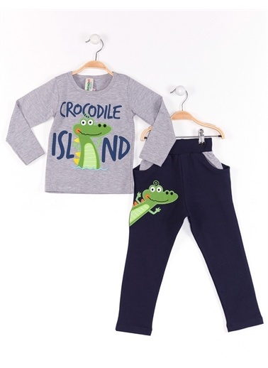 Denokids Timsah Adası Baggy Takım Renkli